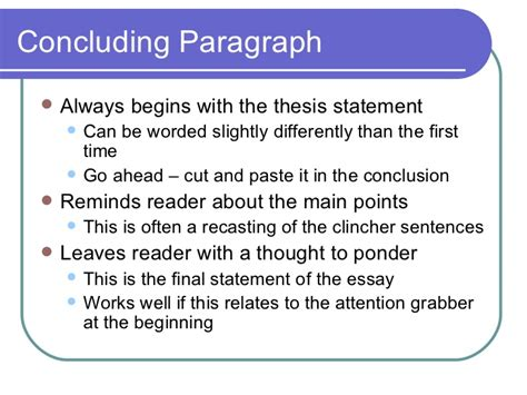 where does the thesis go in the conclusion of mice and essay