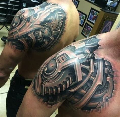 biomechanical shoulder tattoo designs 20 biomechanical tattoos shoulder designs