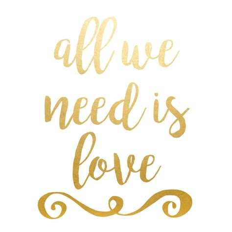all we need is love metallic temporary party flash tattoo