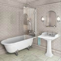 Showers For Freestanding Baths Burlington Hampton Shower Bath 1500 Rh