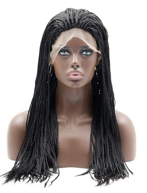 african braided lace wigs sylvia 174 long braid african american synthetic hair lace