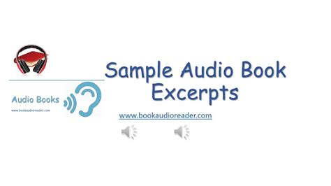 format of audio books sle audio book excerpts youtube