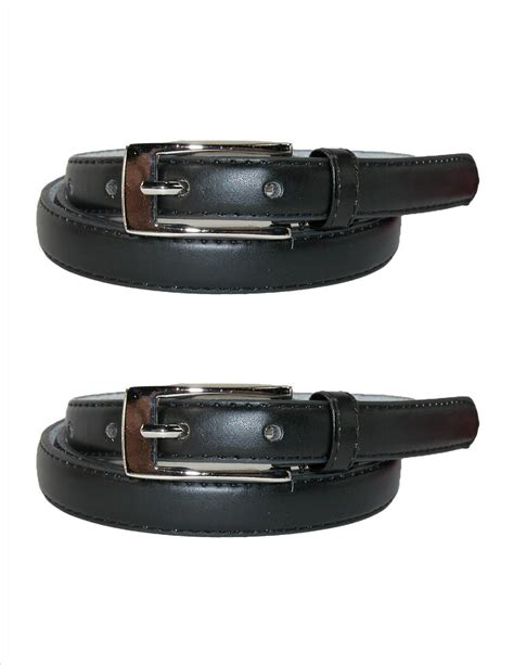 womens leather 3 4 inch dress belt pack of 2 by