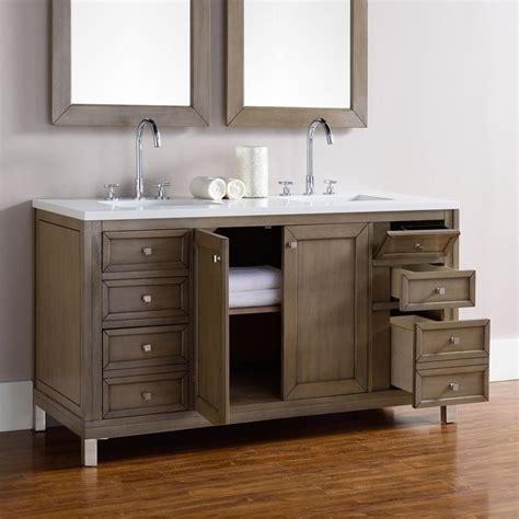 James Martin Chicago 60 Quot Double Bathroom Vanity In Walnut Chicago Bathroom Vanities