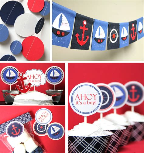 Nautical Baby Shower Decorations by Nautical Decorations Favors Ideas