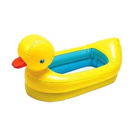 duck bathtub inflatable safety yellow duck tub features white hot dot