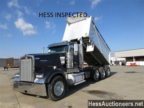 used kenworth w900 dump trucks sale used 2008 kenworth w900 tri axle aluminum dump truck for