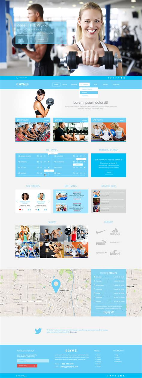 Gymsports Psd Template The Uncreative Lab Free Sports Web Templates