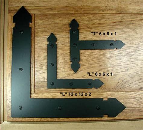 Corner T Brace Siku Pojok T Large Black rustic brackets and straps for doors and gates west hardware