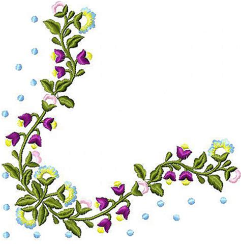 flowers wreath free embroidery design news free