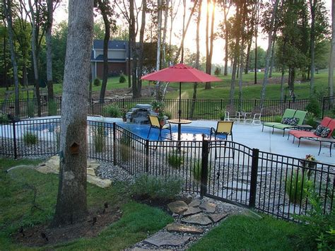 backyard pool fence ideas carmel 32a viking pools custom design clearwater