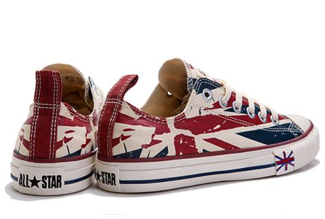Sepatu Converse All Low Bluepink converse flag for olympic beige blue printed low tops canvas sneakers