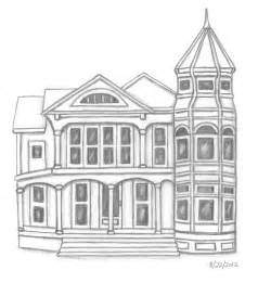 house sketch sketches and things victorian house pencil