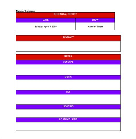 rehearsal calendar template rehearsal schedule templates 13 free word excel pdf