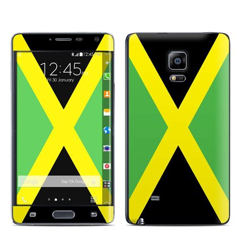 note edge wallpaper flags samsung galaxy note edge skin jamaican flag by flags