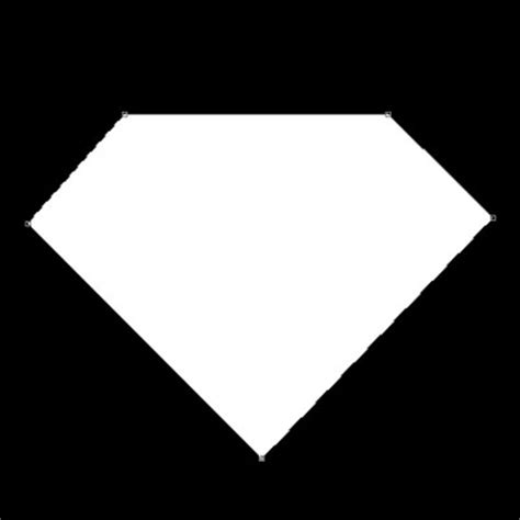blank superman logo template outline of shield