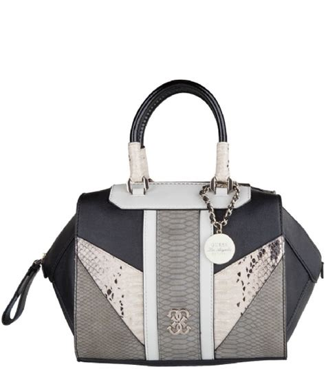 Tas Guess Paxton paxton box satchel black multi guess the green bag