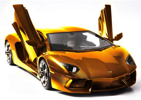 gold lamborghini aventador photo 1 13337