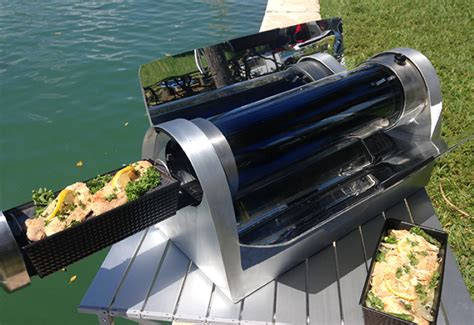 Grill All New Livina new solar oven can cook food during the day and