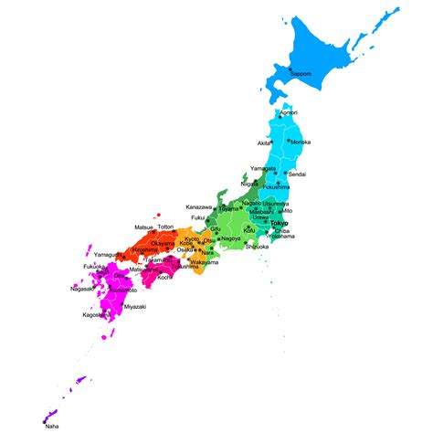 japan regions map japan map guide of the world