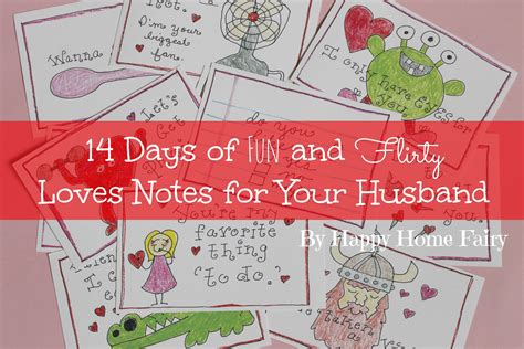 14 days of valentines 14 days of and flirty notes for your husband