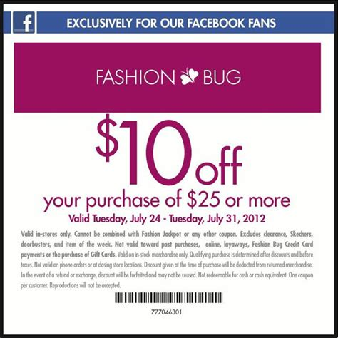 plus size clothing coupons use promo codes or a coupon fashion bug mega deals and coupons