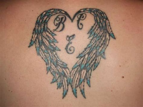 angel wings for my kids tattoo