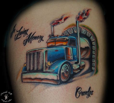 big rig tattoo designs tattoos big trucks pictures to pin on tattooskid