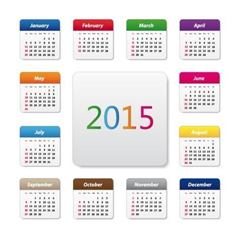 free design resources 2015 2015 calendar design vector illustration free vector