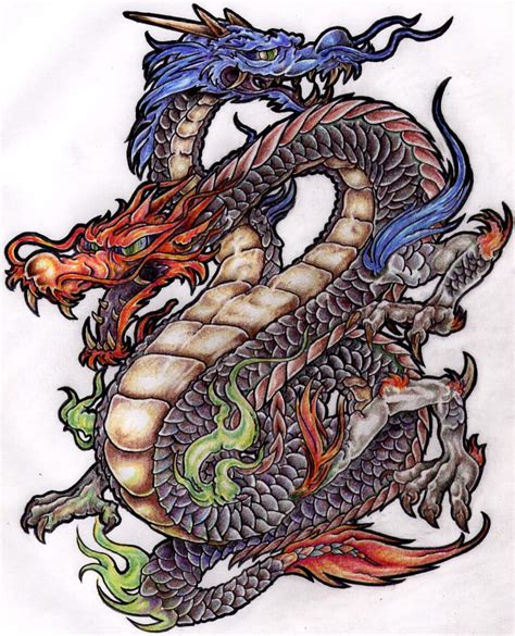 dragon tattoo design colourful best design