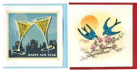 new year themed paper happy new year theme quilling paper greeting cards buy