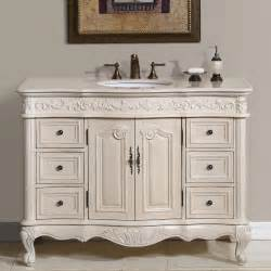 White Kitchen Vanity 48 Perfecta Pa 113 Bathroom Vanity Single Sink Cabinet