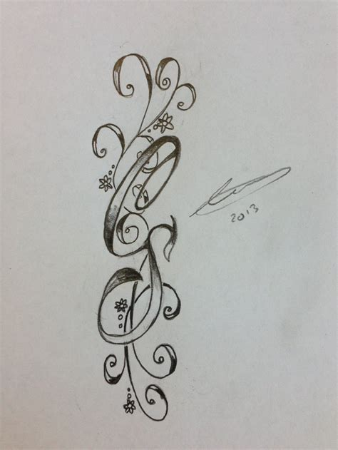 initial tattoos with design cs initials by a18cey on deviantart