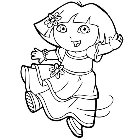 coloring pictures of dora the explorer characters 21 dora coloring pages free printable word pdf png