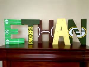 nfl painted letters for boys bedroom greenbay packers 17 best ideas about football themed rooms on pinterest