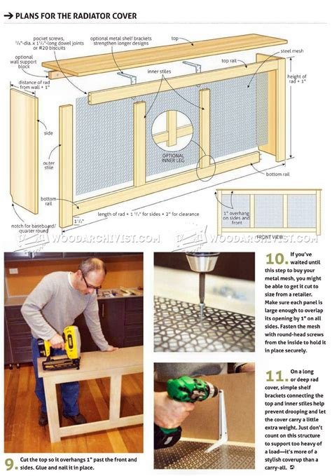 radiator cover plans woodarchivist
