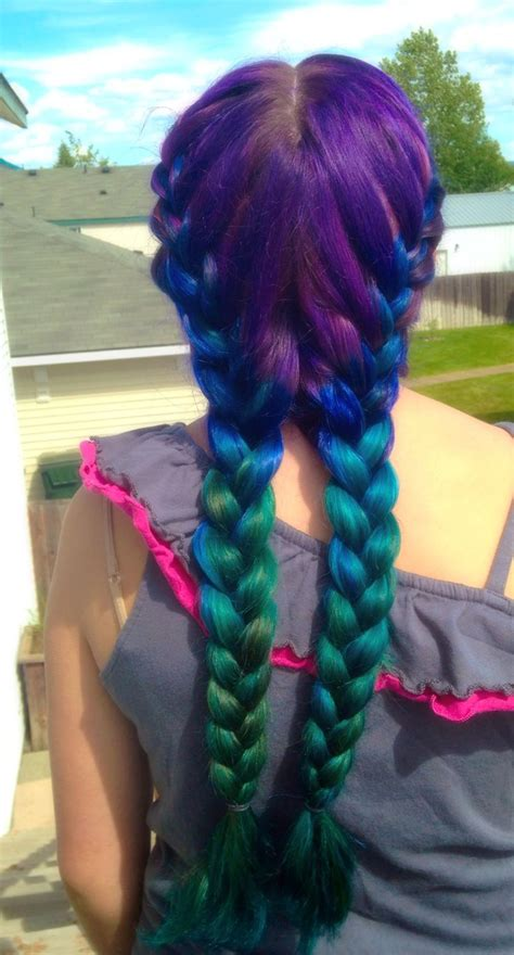 how to dye your hair with splat ombre mermaid hair ombre we used splat hair dyes in berry