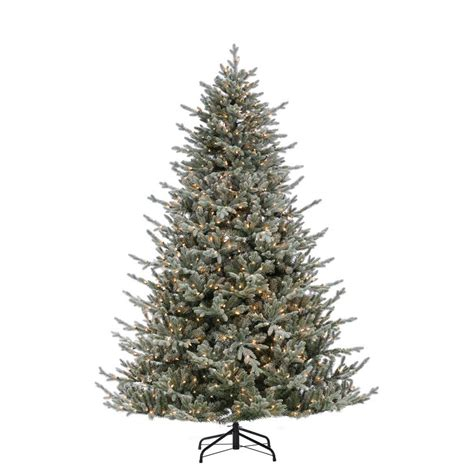big 75 8 artificial christmas tree 12 ft dunhill fir artificial tree with 1500 clear lights duh3 120lo s the home depot