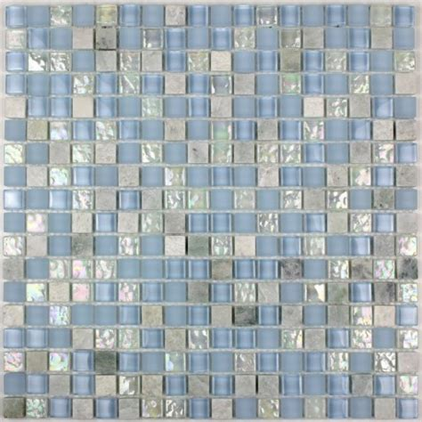 Mur 10 Stainless Blue mosaic floor and wall bathroom mvp lagon carrelage inox fr