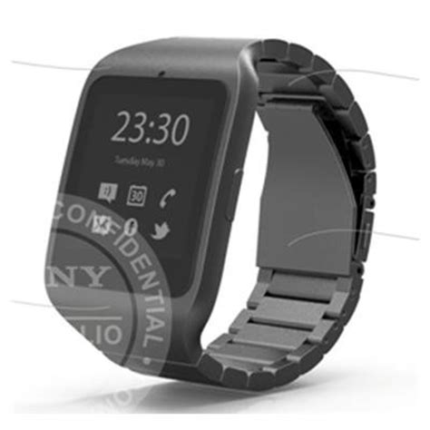 sony smartwatch 3 stainless steel band shows up in leaked