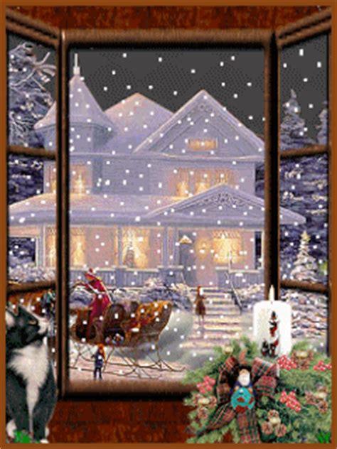 christmas snowgif moving christmas snow scenes