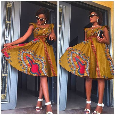 Simple Ankara Short Gown For Ladies