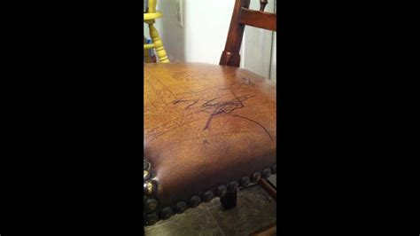 how to get ink out of a leather couch how to remove permanent marker from leather surfaces youtube