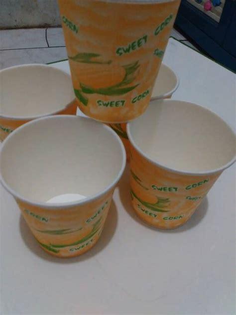 Paper Cup Jagung Gelas Kertas Motif Jagung Gelas Jasuke Isi 50 jual paper cup corn ukuran 9 oz isi 50 gelas klaus