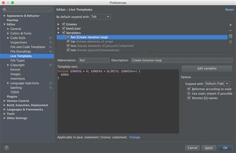 android studio templates android studio live templates