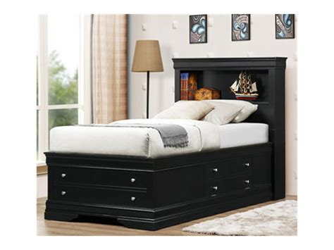 full bed with storage drawers furniture black upholstered leather full size panel