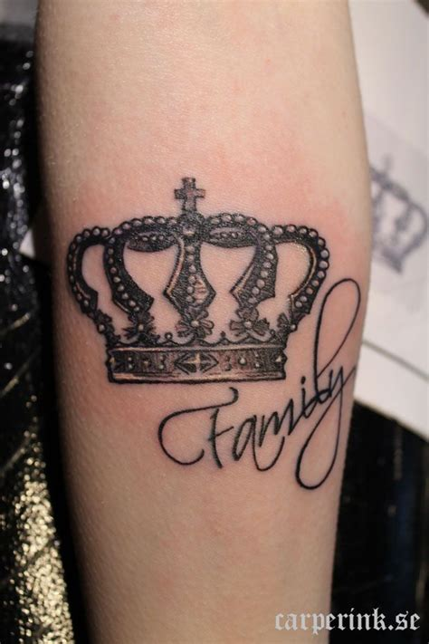 women s crown tattoos family crown but add something different