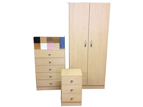 Pre Made Wardrobes by Pre Built Wardrobe Chest And Bedside Choice Of Colours