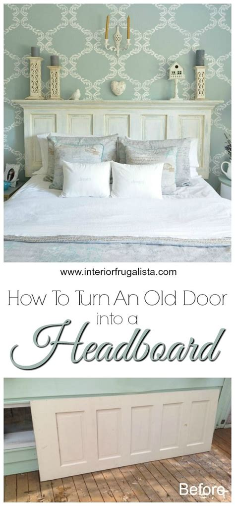 Crown Molding Headboard How To Turn An Door Into A Headboard Crown Doors And Interiors