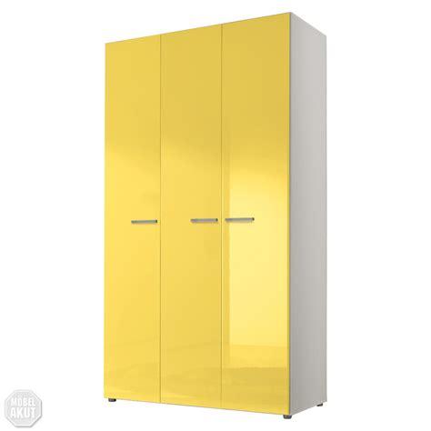kleiderschrank weiss hochglanz 120 cm kleiderschrank smart schrank schlafzimmerschrank gelb